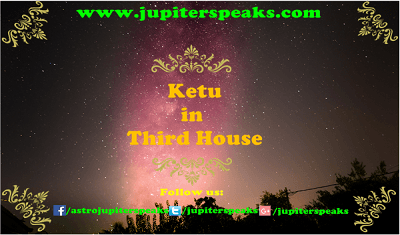 Ketu in 3rd House