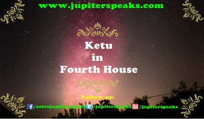 Ketu in 4th house