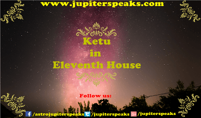 Ketu in 11th House