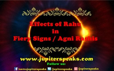 rahu in Fiery sign