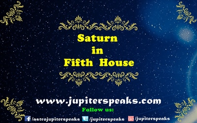 saturn in 5th house