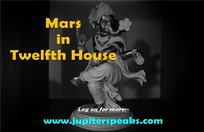 Mars in 12th house