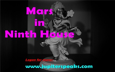 mars in 9th House