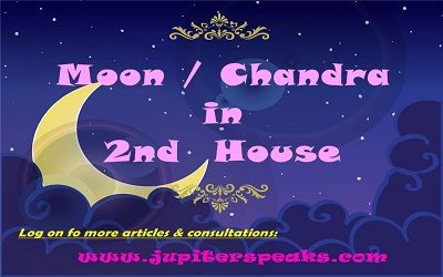 Moon in 2nd house