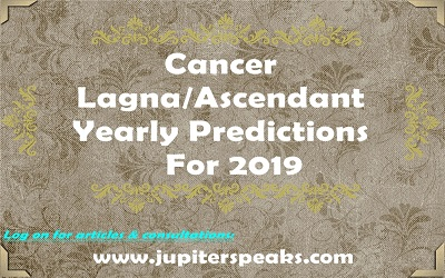 cancer ascendant horoscope 2019