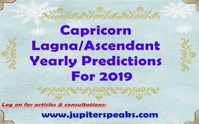 capricorn Ascendant horoscope 2019